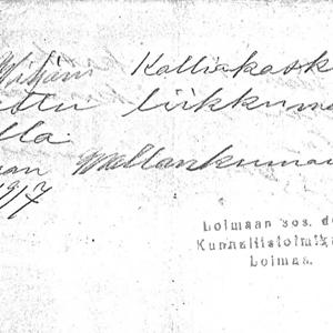Viljami Kalliokoski kulkulupa-etusivulle